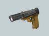 Pistol SciFi Airsoft Muzzle Compensator (14mm Self 3d printed