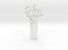 Nouveau Hair Comb Mistletoe 3d printed