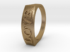 Flat top word ring size 7 love 3d printed