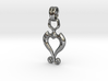 Pendant Higher Love V02 3d printed Romantic Pendant with Heart