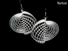Running in Circles - Earrings 3d printed White Strong & Flexible Polished