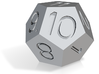 12-sided dice 3d printed