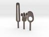 Knife Fork Spoon Head Set - Innovation vs. Utility 3d printed