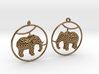 Elephant Earring 3d printed