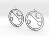 April - Earrings - Series 1 3d printed