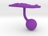 Puerto Rico Terrain Cufflink - Ball 3d printed