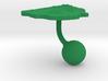 Uruguay Terrain Cufflink - Ball 3d printed