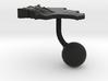 Bolivia Terrain Cufflink - Ball 3d printed