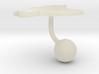 Ecuador Terrain Cufflink - Ball 3d printed