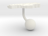 Lesotho Terrain Cufflink - Ball 3d printed