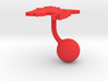 Bangladesh Terrain Cufflink - Ball 3d printed