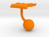 Cameroon Terrain Cufflink - Ball 3d printed