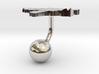 Guinea-Bissau Terrain Cufflink - Ball 3d printed
