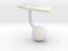 Nepal Terrain Cufflink - Ball 3d printed