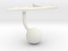 Somalia Terrain Cufflink - Ball 3d printed