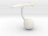 Sweden Terrain Cufflink - Ball 3d printed