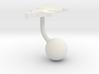 Tunisia Terrain Cufflink - Ball 3d printed