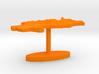 North Korea Terrain Cufflink - Flat 3d printed