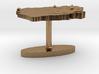 Sierra Leone Terrain Cufflink - Flat 3d printed