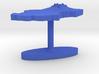 Chad Terrain Cufflink - Flat 3d printed