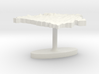 Belarus Terrain Cufflink - Flat 3d printed