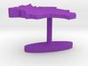 Bolivia Terrain Cufflink - Flat 3d printed
