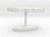 Kyrgyzstan Terrain Cufflink - Flat 3d printed