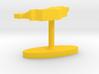 Liechtenstein Terrain Cufflink - Flat 3d printed