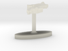 Malawi Terrain Cufflink - Flat 3d printed