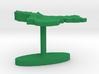 China Terrain Cufflink - Plate 3d printed