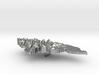 Honduras Terrain Silver Pendant 3d printed