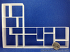 The Fixation 1:12 scale Bookshelf 3d printed Place 2 together and the shelves line up perfectly