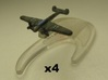 Messerschmitt Bf 110 1:900 x4 3d printed Comes unpainted with out stand. Set of 4 planes.