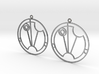Saskia - Earrings - Series 1 3d printed
