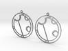 Alyssa - Earrings - Series 1 3d printed