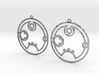 Rebecca / Rebekka - Earrings - Series 1 3d printed