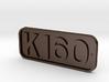K160 Cabside Plate - STEEL 3d printed