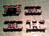 Atlas Alco C-628 Dummy Chassis Kit - N Scale 1:160 3d printed Trucks