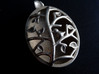 Bird on a Branch Pendant 3d printed Stainless Steel