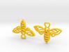 Bee Earrings 3d printed