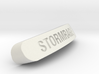 STORMRAGE Nameplate for SteelSeries Rival 3d printed