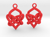Celtic Heart Knot Earring 3d printed