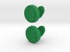 Heineken beer cap cufflinks 3d printed