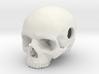 20mm .8in Keychain Bead Human Skull 3d printed