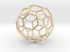 0024 Fullerene c60-ih Bonds/Truncated icosahedron 3d printed