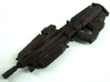 1:6 scale Sci-Fi Assault Rifle 3d printed WFS painted black
