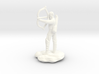 Half-Elf Bard Historian with Shortbow and Lute 3d printed