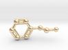Phenethylamine Molecule Keychain Pendant 3d printed