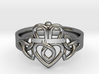 Triquetra Claddagh Ring 3d printed