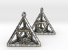 TETRAHEDRON (stage two) earrings 3d printed
